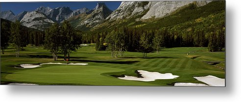 Photography Metal Print featuring the photograph High Angle View Of A Golf Course, Mt by Panoramic Images