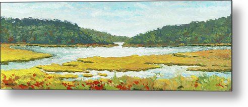 Cape Cod Metal Print featuring the painting Monomoy River by Craig Caldwell