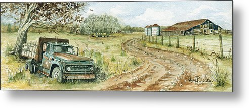 Truck Metal Print featuring the painting Old Friend by Anne Rhodes