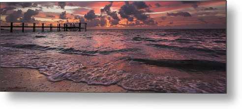 3scape Photos Metal Print featuring the photograph Marathon Key Sunrise Panoramic by Adam Romanowicz