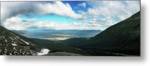 Photography Metal Print featuring the photograph View From Martial Glacier, Ushuaia by Panoramic Images