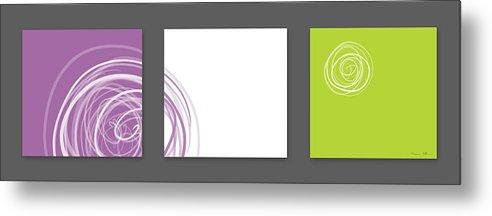 Abstract Metal Print featuring the digital art Purple Twirl by Nomi Elboim