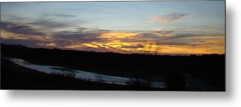 Sunrise Metal Print featuring the photograph River Sunrise One by Ana Villaronga