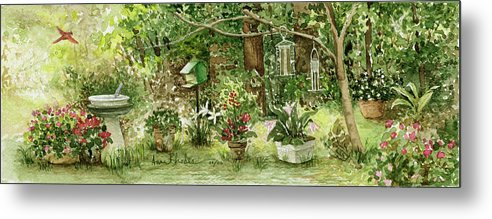 Nature Metal Print featuring the painting Sanctuary by Anne Rhodes