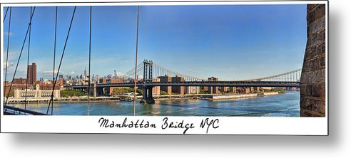 Wright Metal Print featuring the photograph Manhattan Bridge Nyc by Paulette B Wright