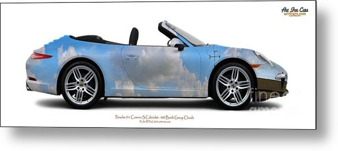 Car Metal Print featuring the photograph Porsche 911 Cab Elvington Clouds by Art Faul