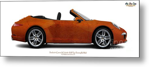 Car Metal Print featuring the photograph Porsche 911 Ref Eye Red Taxi by Art Faul