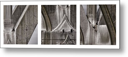 Architecture Metal Print featuring the photograph Architectural Detail Triptych by Carol Leigh