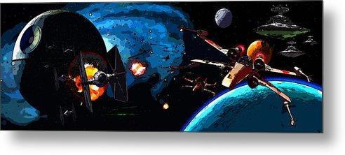 Star Wars Metal Print featuring the digital art Star Wars by Elena Kosvincheva