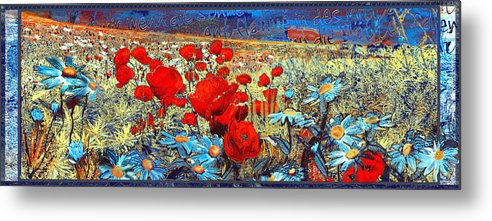 Papaver Metal Print featuring the painting Melancholic Of Late Summer by Anne Weirich