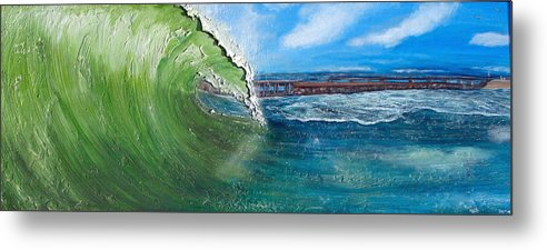 Shell Paintings Paintings Metal Print featuring the painting The Inlet by Coastal Fine Artistry