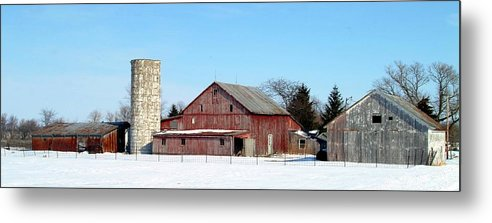 Farm Metal Print featuring the photograph 020309-70 by Mike Davis