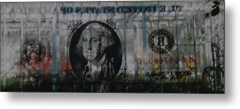 Park Metal Print featuring the photograph Dollar Bill by Rob Hans