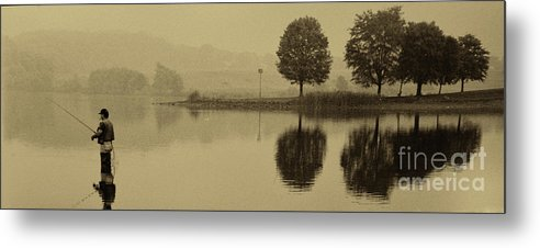 Fishing Metal Print featuring the photograph Marsh Creek Lake Pa 21 by Jack Paolini