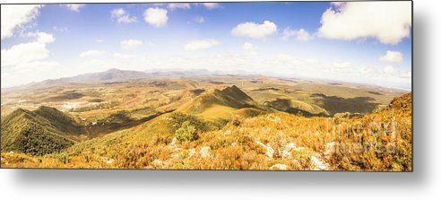 Tasmania Metal Print featuring the photograph Mountains And Open Spaces by Jorgo Photography - Wall Art Gallery