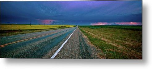Metal Print featuring the digital art Prairie Storm Saskatchewan by Mark Duffy