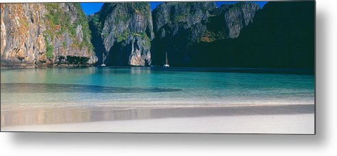 Photography Metal Print featuring the photograph Rock Formations In The Sea, Phi Phi by Panoramic Images