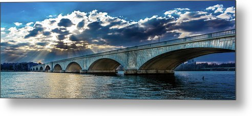 Photography Metal Print featuring the photograph Washington D.c. - Memorial Bridge 1 by Panoramic Images