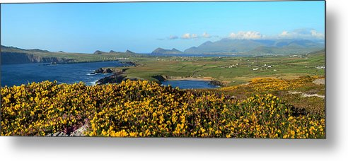 Clogher Metal Print featuring the photograph Clogher Beach And The Three Sisters by Barbara Walsh