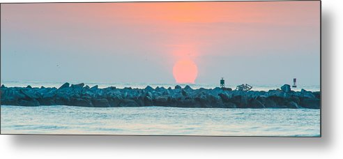Birds Metal Print featuring the photograph Soft Sunrise At Jetty Park by Cliff C Morris Jr