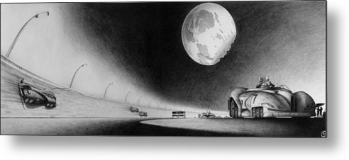 Race Metal Print featuring the drawing The Master Race by Vincent Jimenez