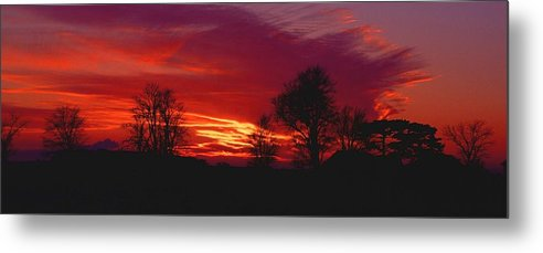Sunset Metal Print featuring the photograph 022107-37 by Mike Davis