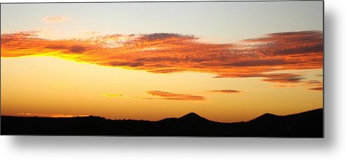 Sunset Metal Print featuring the photograph Glowing Sunset One by Ana Villaronga