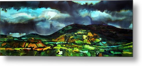 Watercolours Metal Print featuring the painting The Irish Hills by David Evans
