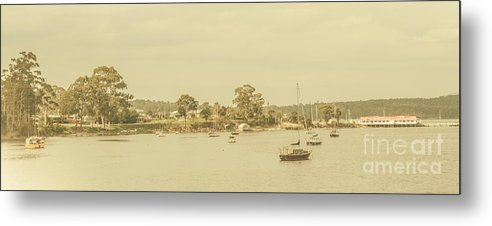 Nautical Metal Print featuring the photograph Vintage Dover Harbour Tasmania by Jorgo Photography - Wall Art Gallery