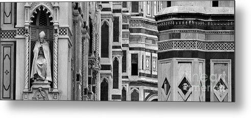 The Duomo Metal Print featuring the photograph The Duomo Black And White by Mike Nellums