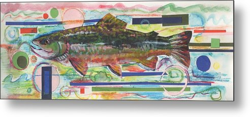 Trout Metal Print featuring the painting Brook Trout 1 by Michelle Grove