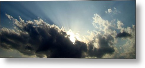 Blue Metal Print featuring the photograph Radiant Sky One by Ana Villaronga