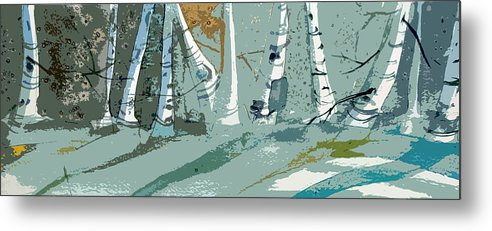 Snow Metal Print featuring the painting Snow Bank by Mindy Newman