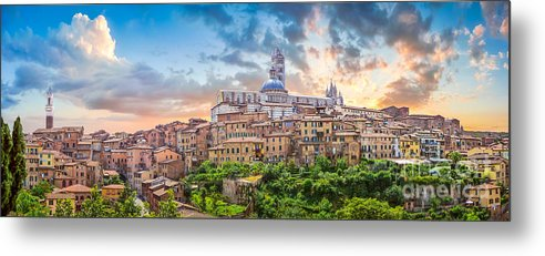 Cattedrale Di Santa Maria Assunta Metal Print featuring the photograph Tuscan Romance by JR Photography
