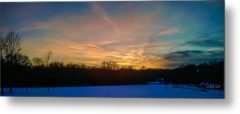 Leading Lines Metal Print featuring the photograph Sunset by Saurav Pandey