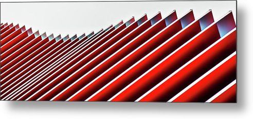 Architecture Metal Print featuring the photograph Concertina Wall II by Gilbert Claes