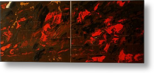 Metal Print featuring the painting Symphony No. 8 Movement 13 Vladimir Vlahovic- Images Inspired By The Music Of Gustav Mahler by Vladimir Vlahovic