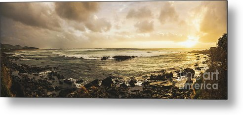 Beach Metal Print featuring the photograph Goodbye Sunshine by Jorgo Photography - Wall Art Gallery