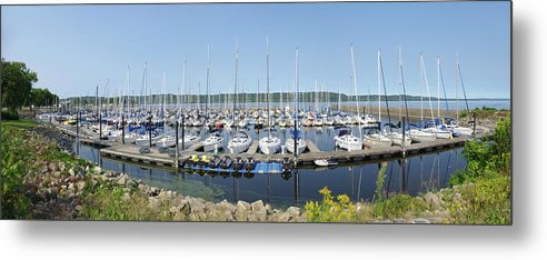 Sailboats Metal Print featuring the photograph Lake Pepin Sailboats by Tom Reynen