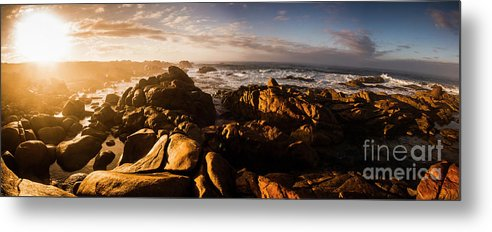 Australia Metal Print featuring the photograph Morning Ocean Panorama by Jorgo Photography - Wall Art Gallery
