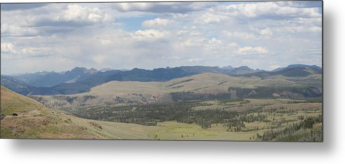 Vista Metal Print featuring the photograph Yellowstone Panorama by Gregory Jeffries