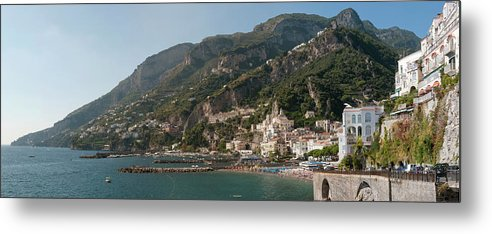 Tranquility Metal Print featuring the photograph Amalfi On The Gulf Of Salerno by Stuart Mccall