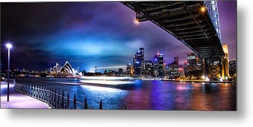 Sydney Metal Print featuring the photograph Vibrant Sydney Harbour by Az Jackson