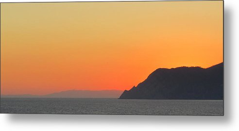 Italian Riviera Metal Print featuring the photograph Italian Riviera Sunset by Michael Allington