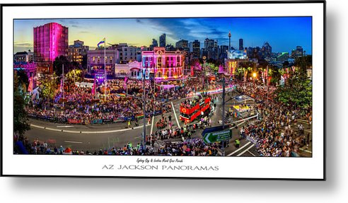 Sydney Metal Print featuring the photograph Sydney Gay And Lesbian Mardi Gras Parade Poster Print by Az Jackson