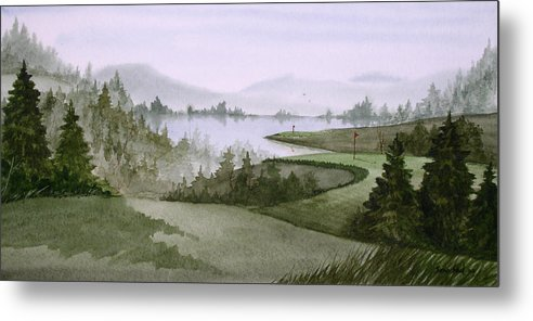 Golf Metal Print featuring the painting Northern Lake Golf by Sean Seal