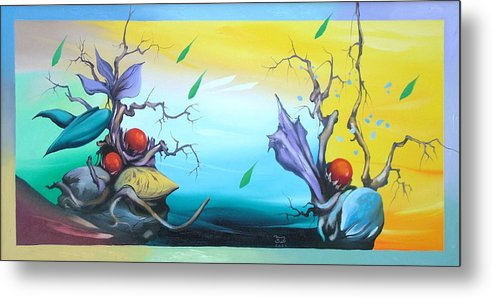 Surreal Metal Print featuring the painting Affection by Zoltan Ducsai
