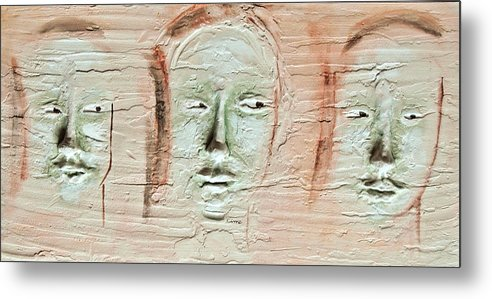 Portraits Metal Print featuring the painting Faces by Kime Einhorn