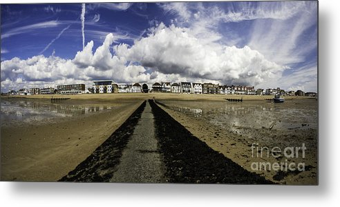 Southend On Sea Metal Print featuring the photograph Southend On Sea Panorama by Avalon Fine Art Photography