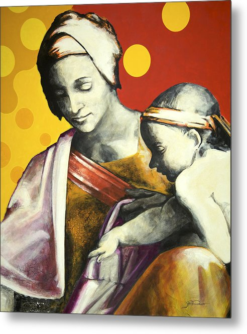 Figurative Metal Print featuring the painting Madona by Jean Pierre Rousselet